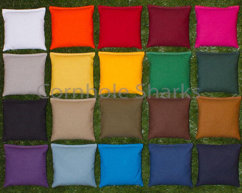 corn hole bags cornhole bean bags set of 8 aca regulation bags pick your colors best quality - Corn Hole Sets