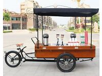 cargo, coffee, ice cream, rickshaw stall bikes