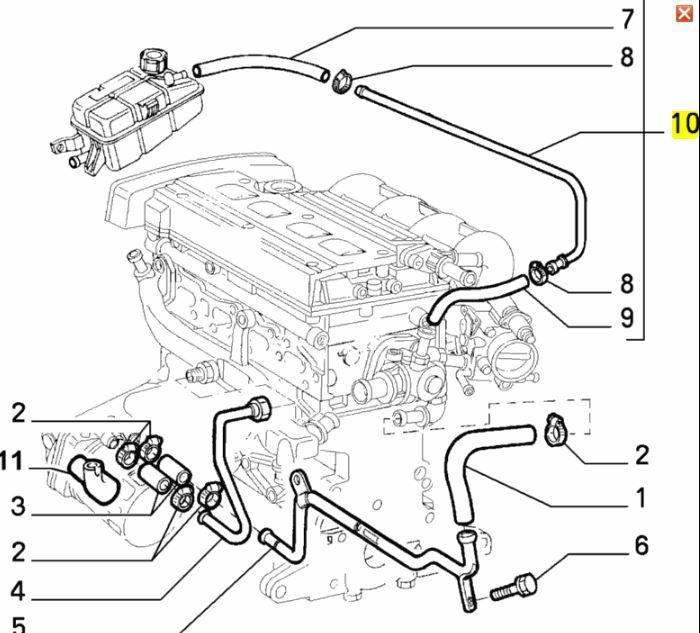 Alfa Romeo 916 GTV & Spider 1.8 2.0 Twin Spark Header Tank