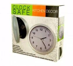 "Wall Clock - Hidden Safe - Bank For Cash Jewelry  & Bullion 10.25"" Gold & Silver"
