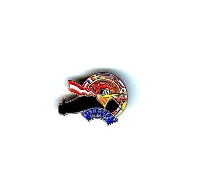 """Pin Eishockey-WM 1996 in Wien - Logo mit Pinguin"""""""