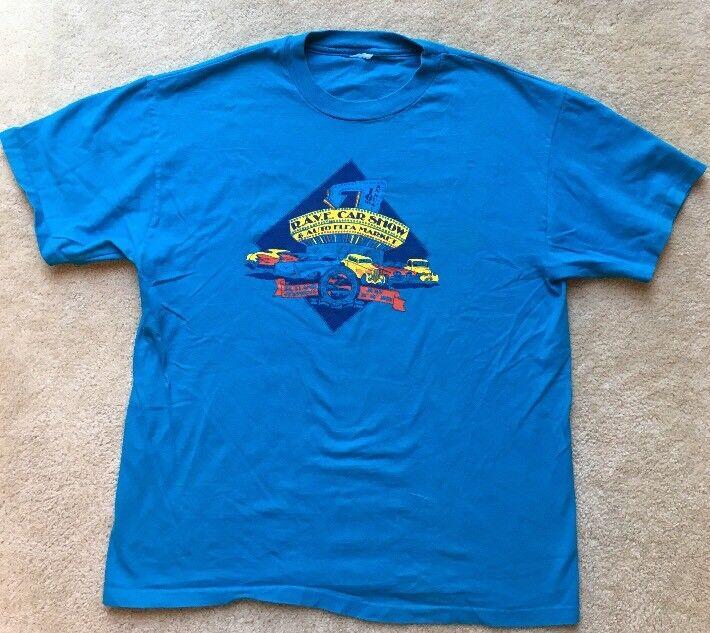 R.A.V.E. Car Show T-shirt May 1995 Aqua Blue Large.