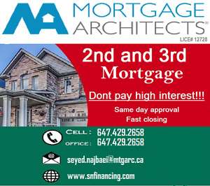 DON'T PAY HIGH INTEREST! Apply for 2nd mortgage!!
