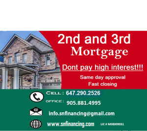 1st and 2nd Mortgage  SAME DAY APPROVAL