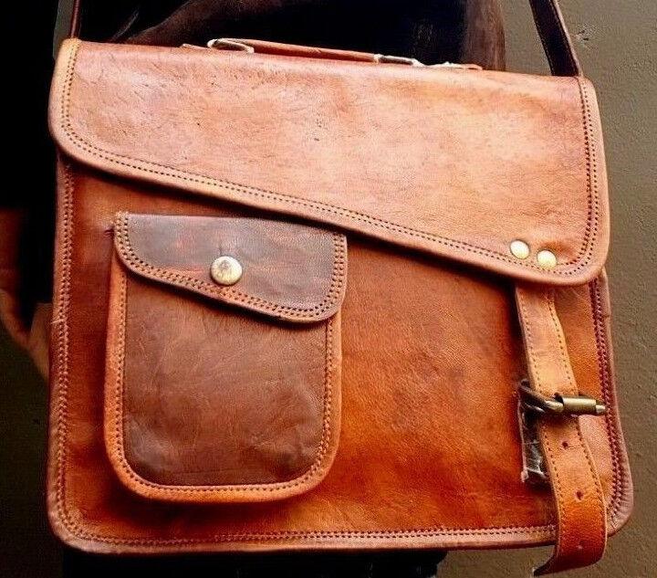 Men's genuine leather S to L I pad Tablet case satchel shoul