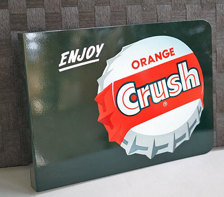 ORANGE CRUSH With BOTTLE CAP Flange Sign  soda pop   Modern Retro
