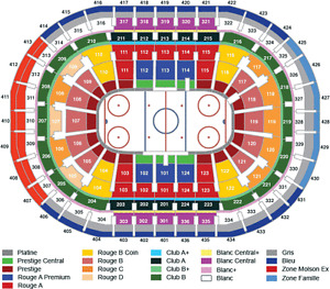 Canadiens vs Toronto -Blancs/White 328 Rangee/Row 'CC'-Oct 29
