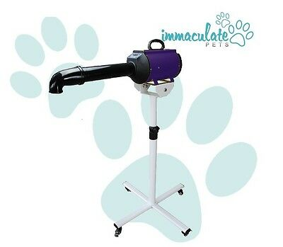 NEW Powerblast Plus PROFESSIONAL DOG BLASTER / DRYER WITH STAND (LCD DISPLAY)