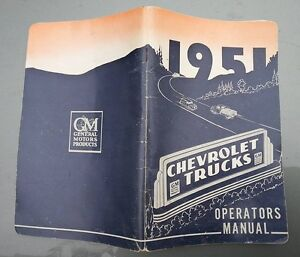 1951 Chev Truck owners manual