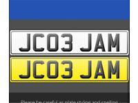 Private Reg Cherished Plate JAMIE JAM JAMES