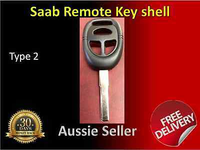 3 buttons Remote Key Shell Case key blank uncut SAAB 9-3, 9-5 models type 2