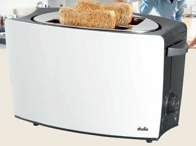 SILVERCREST Doppelschlitz Toaster 826 Watt Brötchenaufsatz Krümelschublade NEU