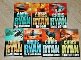 CHRIS RYAN * Excellent Collection of 7 Paperback Books