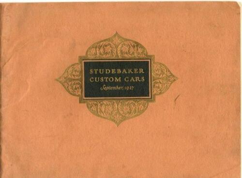 1927 Studebaker Brochure 1927  -  Studebaker Custom Cars - September, 1927
