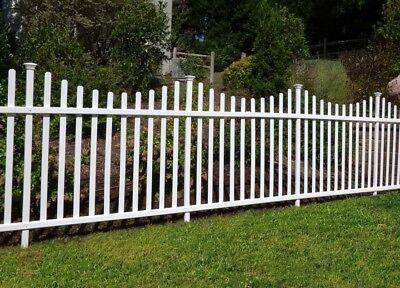 - Portable Dog Fence Outdoor Pet White Vinyl Garden No Dig Corner Picket Large NEW