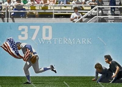 EL271 Rick Monday Chicago Cubs Saves US Flag 8x10 11x14 16x20 Colorized Photo