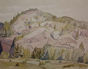 "A.J. Casson ""Hills at McGarry Flats"" Litho - Appraised at $500"