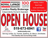 Open Houses London and Area This Weekend