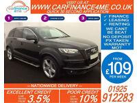 2013 AUDI Q7 3.0 TDI QUATTRO S-LINE + GOOD / BAD CREDIT CAR FINANCE AVAILABLE