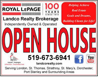 Royal LePage Landco OPEN HOUSES Sat/Sun Oct 3/4