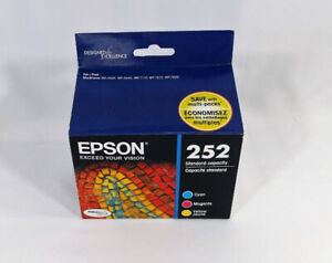 Epson 252 Colour Cartridges Cyan Magenta Yellow 3-Pack T252520