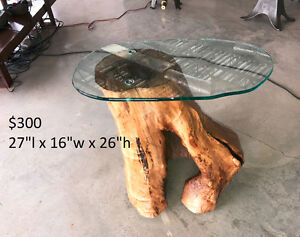 Tree trunk Side table / End Table
