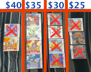 Pokemon Games ( Nintendo 3DS / DS ) PRICE IN PICTURE