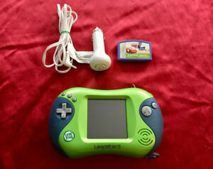 LeapFrog Leapster 2 Console + Cars Game + Car Adapter