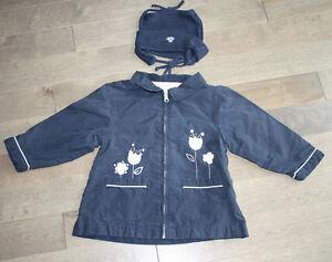 Petit manteau printemps bébé fille 2T