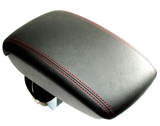 nissan juke leather arm rest red stitching armrest storage genuine ke8771k1re ebay. Black Bedroom Furniture Sets. Home Design Ideas
