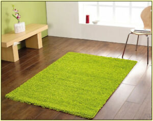 Bright Green High pile Shag Rug Area-Rug Carpet Living Room