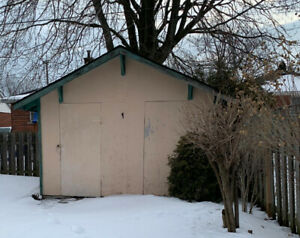 Covered wooden Storage shed available for rent
