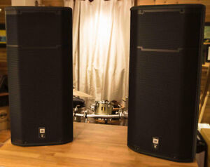 JBL PRX 635 POWERED SPEAKERS WITH SLIP COVERS
