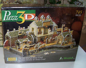 Wrebbit 3D Puzzle Old Mill At Stony Creek 745 Pieces London Ontario image 1