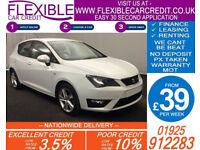 2013 SEAT IBIZA 2.0 TDI FR GOOD / BAD CREDIT CAR FINANCE AVAILABLE