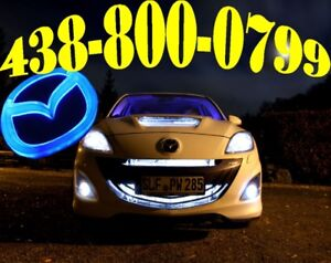 MAZDA HID CONVERSION CAR HEADLIGHTS LIGHTS LED LUMIÈRES XENON