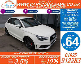 2012 AUDI A1 1.6 TDI S-LINE GOOD / BAD CREDIT CAR FINANCE FROM 64 P/WK