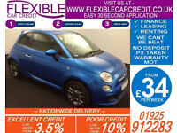 2014 FIAT 500 1.2 S GOOD / BAD CREDIT CAR FINANCE AVAILABLE