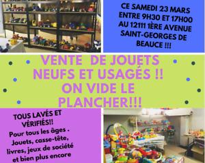 ON VIDE LE PLANCHER !! JOUETS NEUFS ET USAGÉS !!