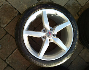 "Corvette staggered set - 19''/18"" rims/tires - $1800.00 Kitchener / Waterloo Kitchener Area image 7"