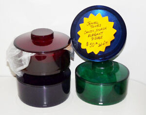 Tupperware Jewel Tones Elegant Candy & Snack Dishes - NEW $40.00