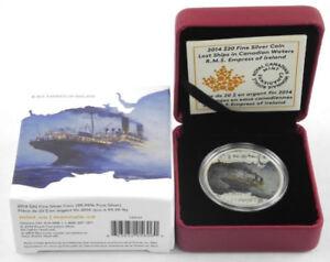 2014 RMS Empress of Ireland .9999 Fine Silver $20.00 Coin