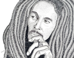 Bob Marley Word Art - Large Print