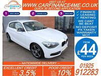 2013 BMW 116 1.6 SPORT GOOD / BAD CREDIT CAR FINANCE FROM 44 P/WK