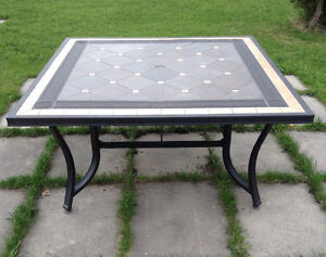 Heavy built outdoor table