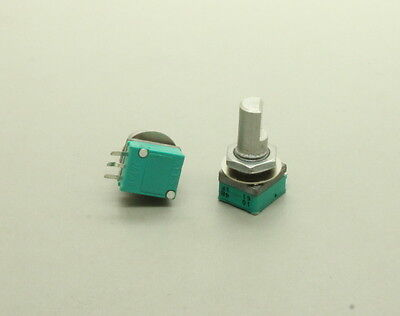 2 X 9mm Alps B100k 100k Linear Taper Potentiometer D Shaft Vertical Pc Mount