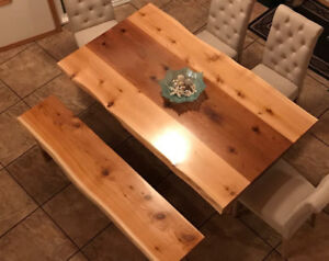 Hand crafted Live edge Tables
