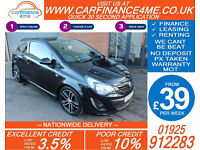 2014 VAUXHALL CORSA 1.4 BLACK EDITION GOOD / BAD CREDIT CAR FINANCE FROM 39 P/WK