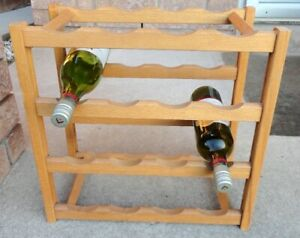 16 bottle Oak wine rack