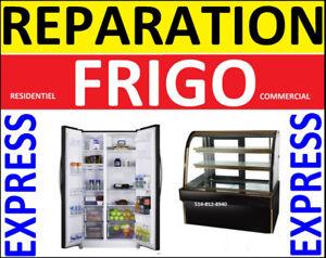 REPARATION REFRIGERATEUR 514 -812-8940 RÉSIDENTIEL - COMMERCIAL